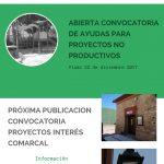 Convocatorias de Ayudas Proyectos No Productivos